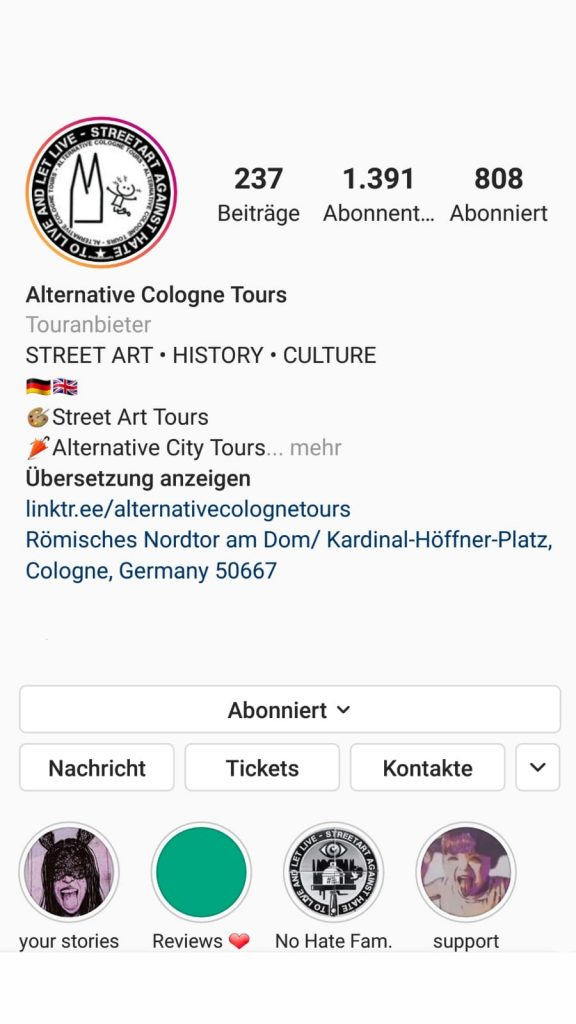 Instagram Alternative Cologne Tours