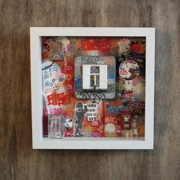 Bibo Closed Window Box Street Art