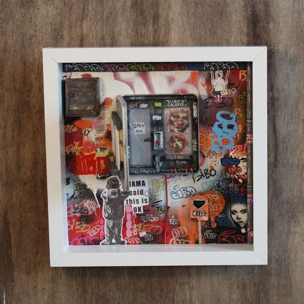 Bibo Window Open Straßenkunst