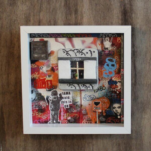 Bibo closed Window Art StreetArt