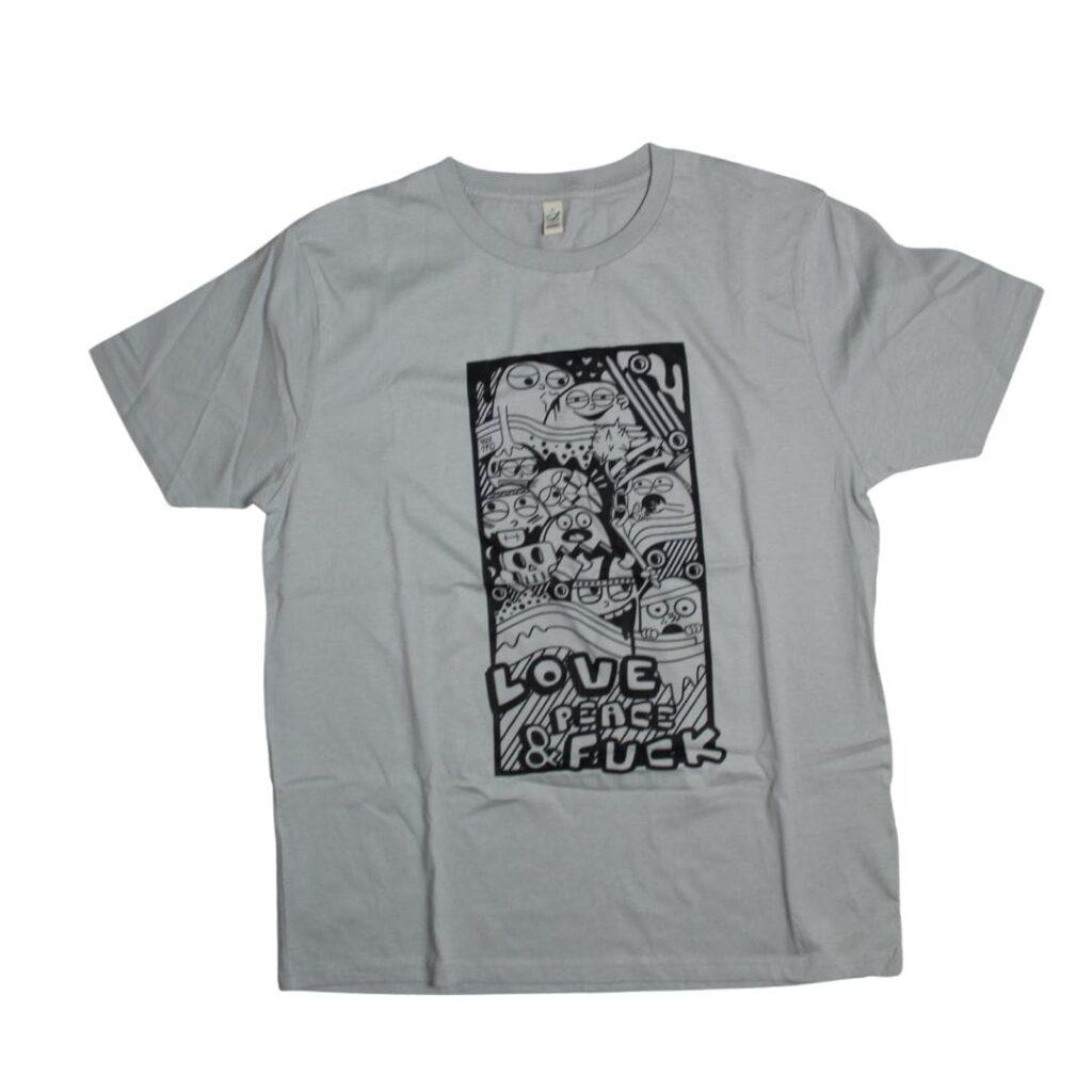 Busta 170 grey Shirt Love Peace