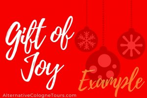 Christmas Gift Card Alternative Cologne Tours