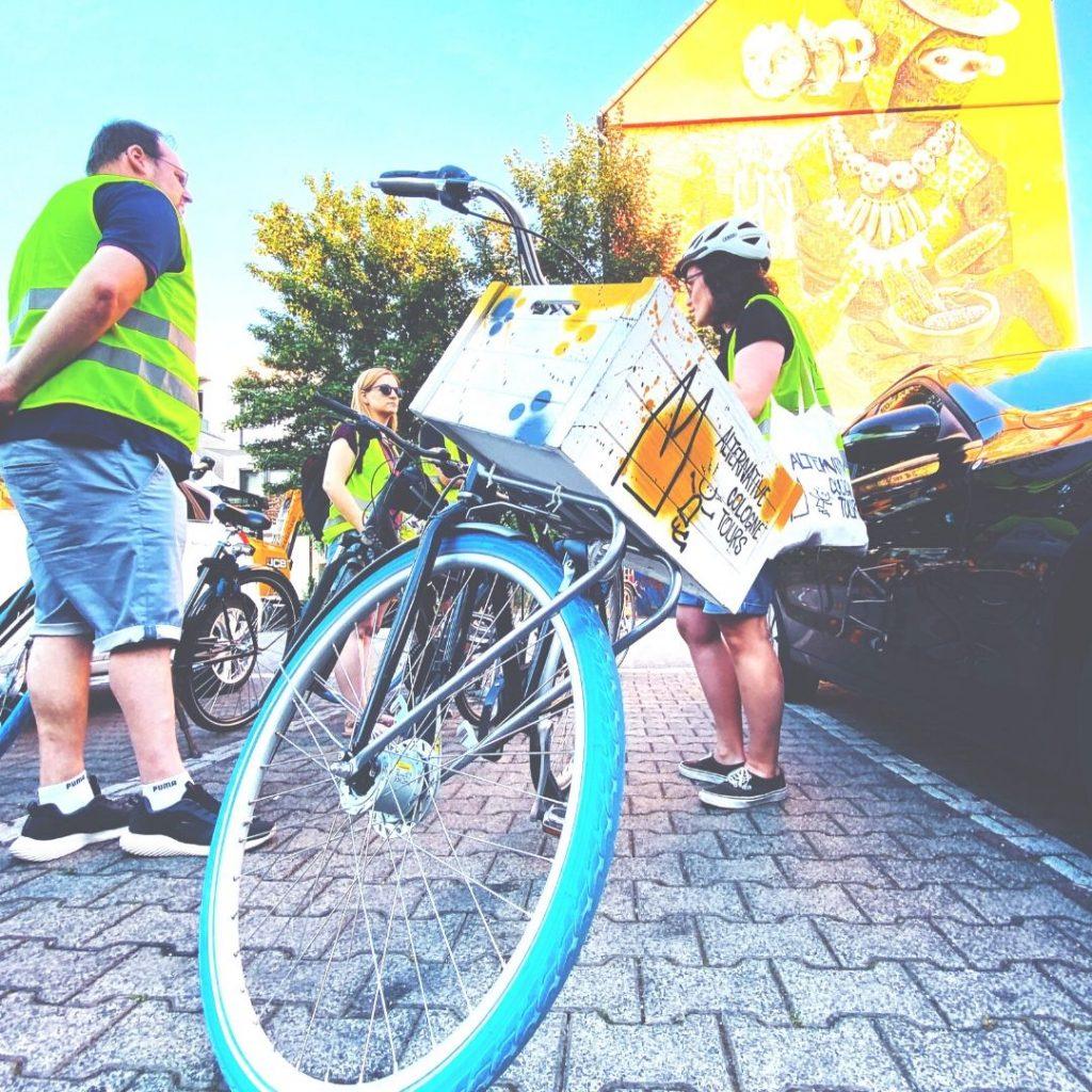 Fahrrad Stadtführung durch Köln Gelbe Weste