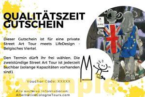 Geschenk Gutschein Alternative Cologne Tours