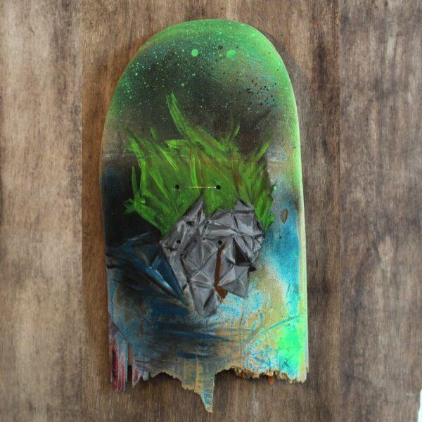 German Street Artist Metraeda on Skateboard