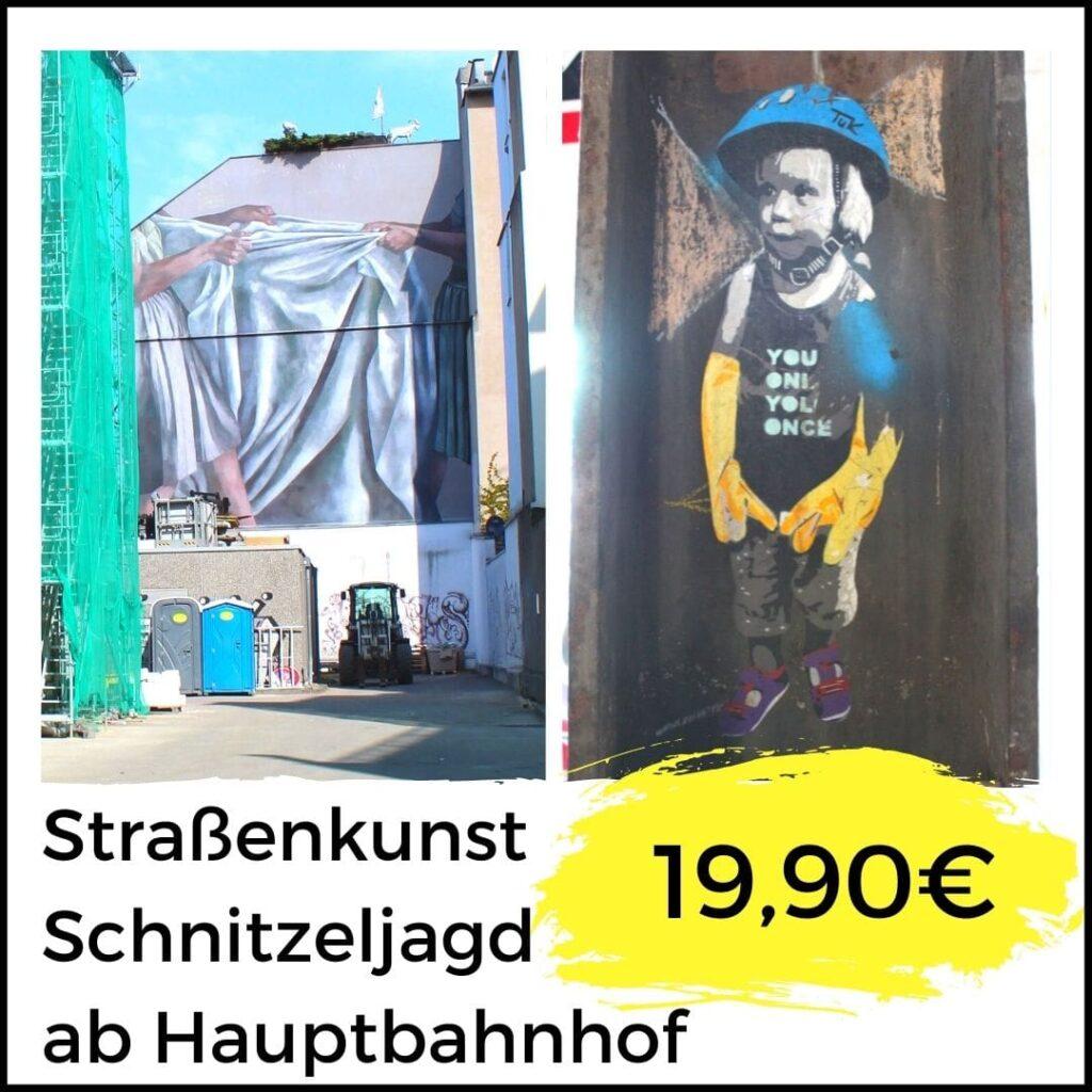 Sraßenkunst Schnitzeljagd ab Hauptbahnhof Köln