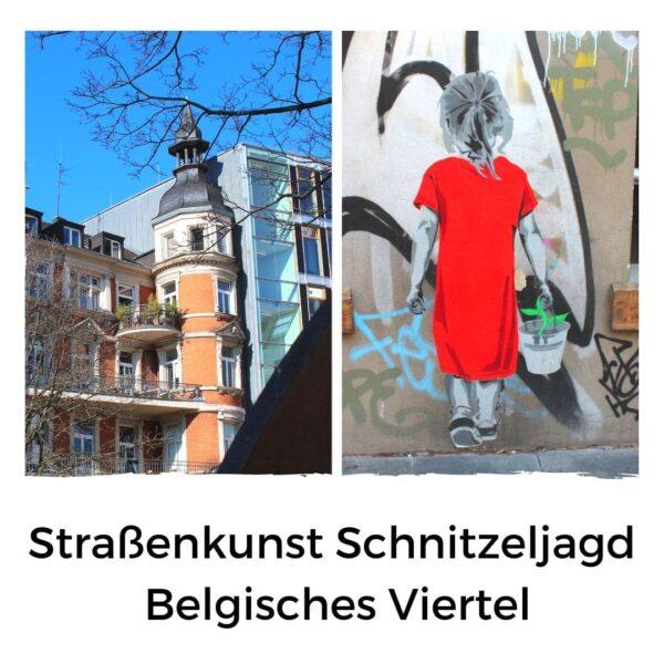 Straßenkunst Schnitzeljagd Belgisches Viertel