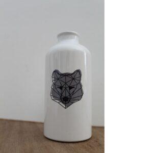 Street Art Trinkflasche Wolf METRAEDA Kinder Geschenk
