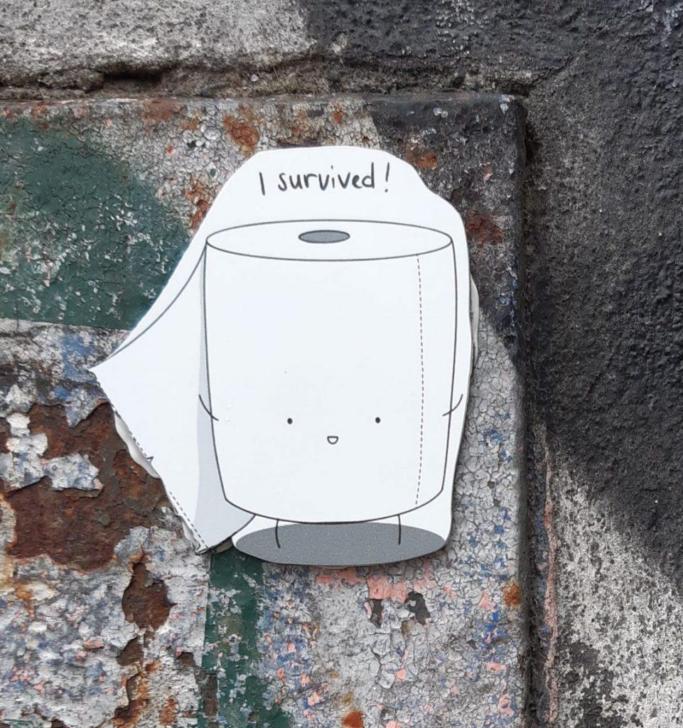 Corona Streetart Toilet Paper