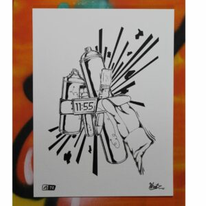 Bomb Walls Not People (Print) By AXIT