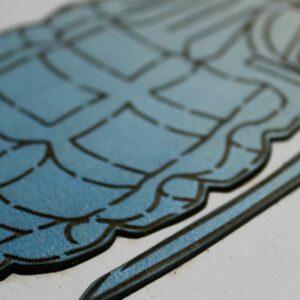 Hand Granade Blue Close Up