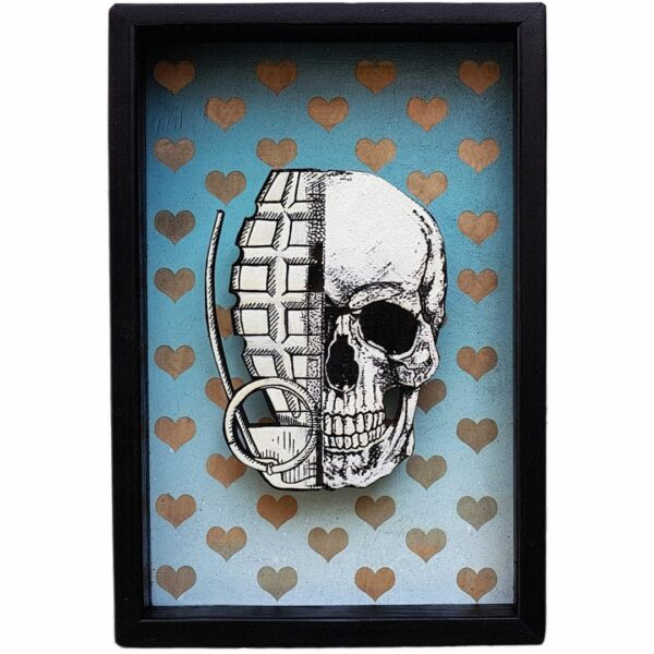xxxhibition streetart skull totenopf